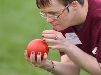 A Special Olympics Minnesota athlete