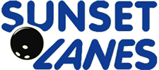 Sunset Lanes bowling alley logo