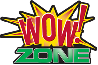 Wow Zone bowling alley logo
