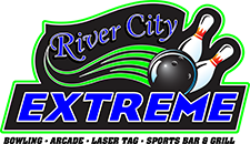 Logo for River City Extreme bowling alley
