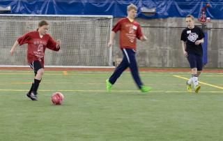 Special Olympics Minnesota athletes play soccer