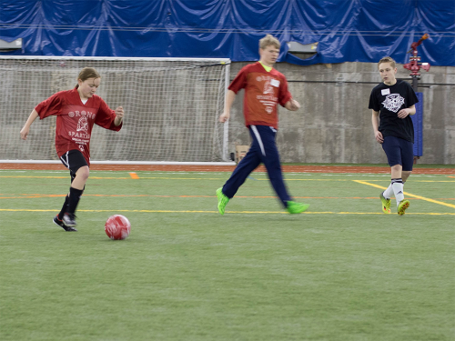 Special Olympics Minnesota athletes play soccer