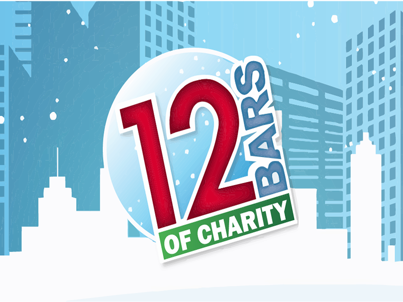 12 bars of charity logo