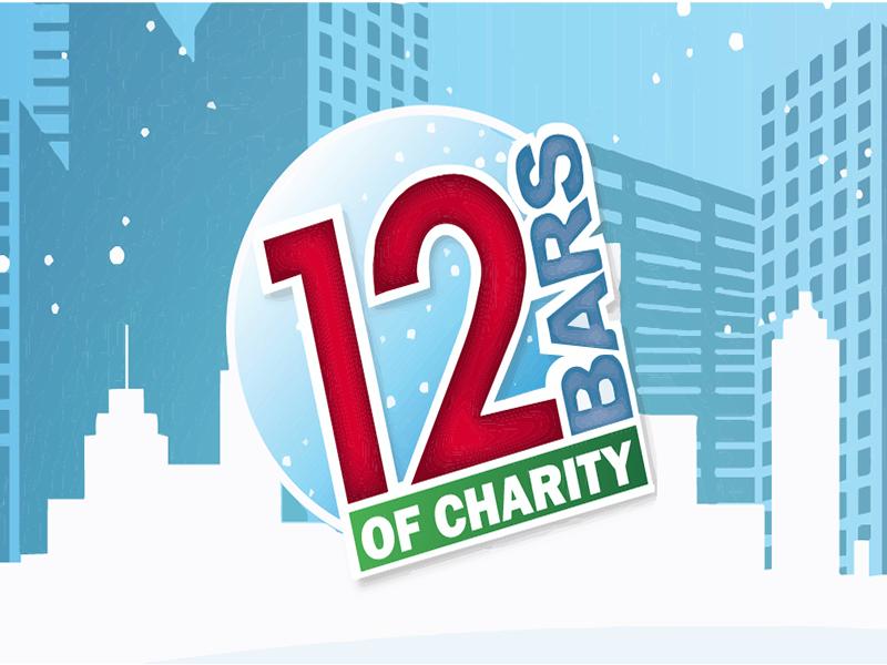 12 bars of charity logo