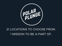 Graphic for the 2018 Polar Plunge: 21 locations to choose from. 1 mission to be a part of.
