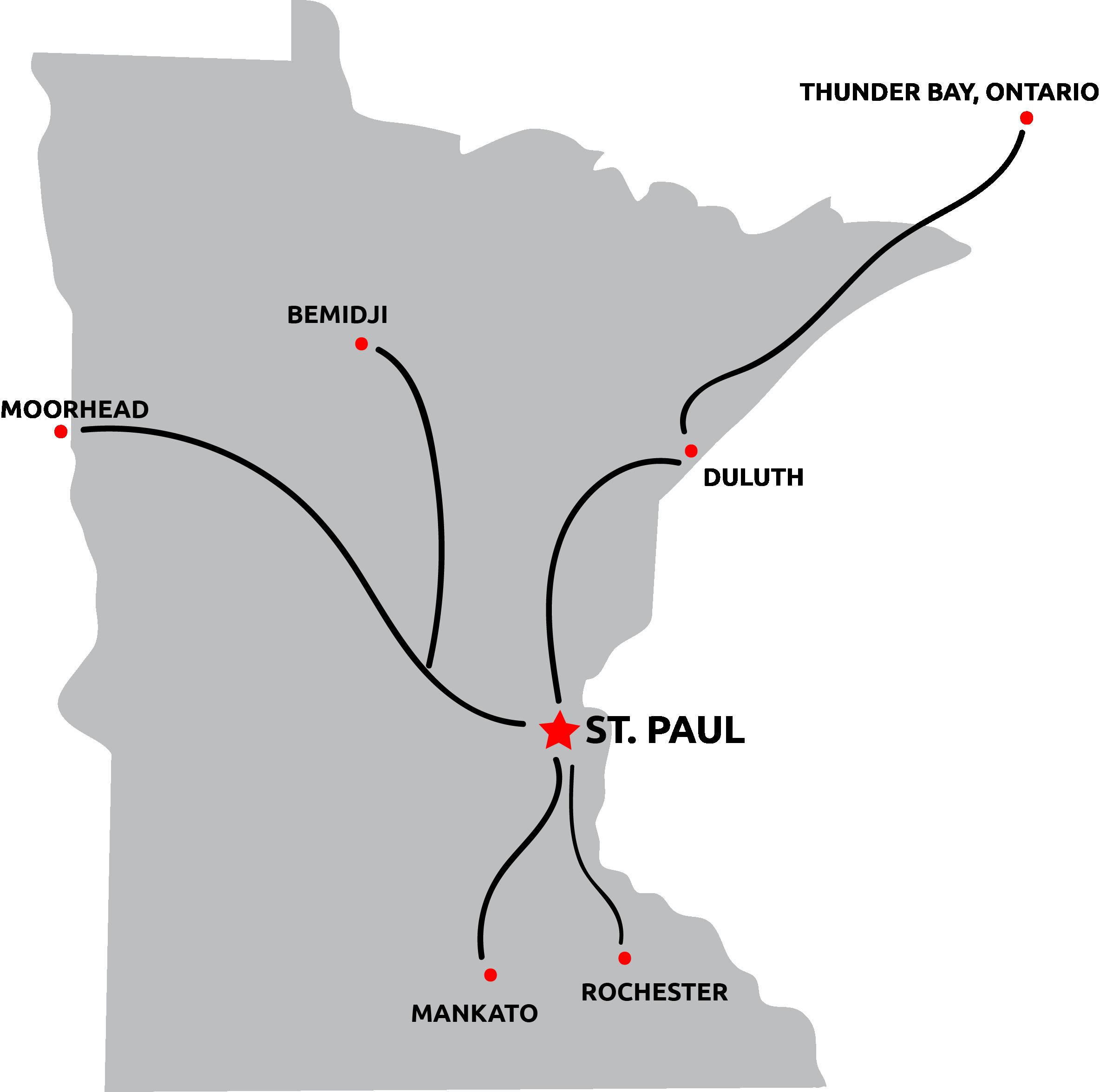 Map of 2019 LETR Final Leg route