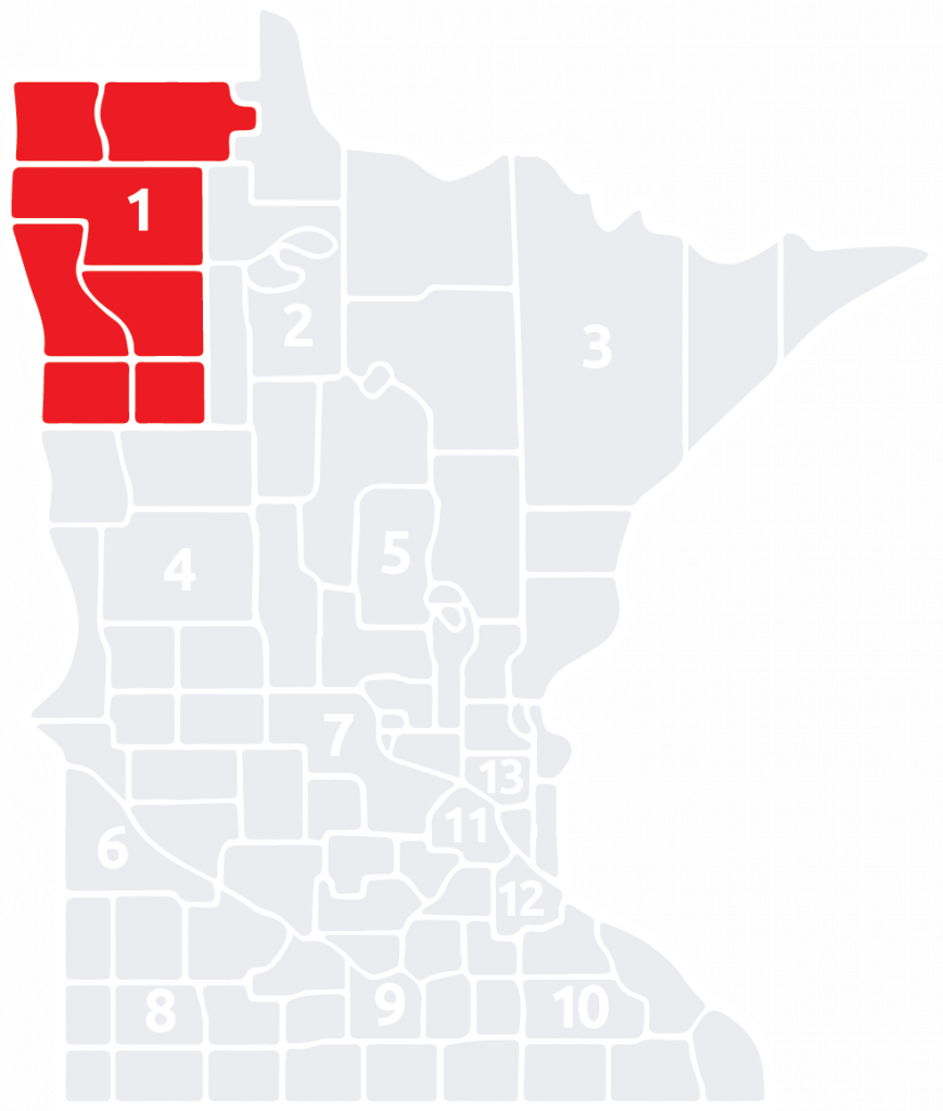 Special Olympics Minnesota Area 1 is located in the northwest corner of the state