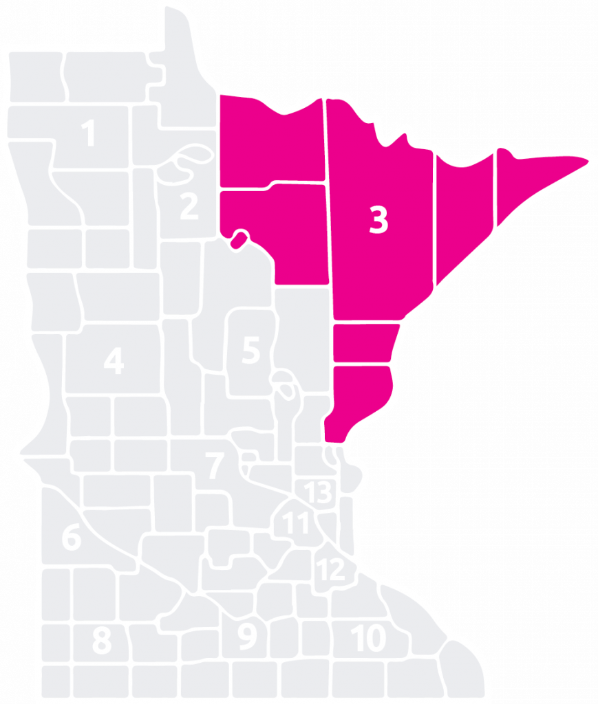 Special Olympics Minnesota Area 3 is located in the northeast part of the state