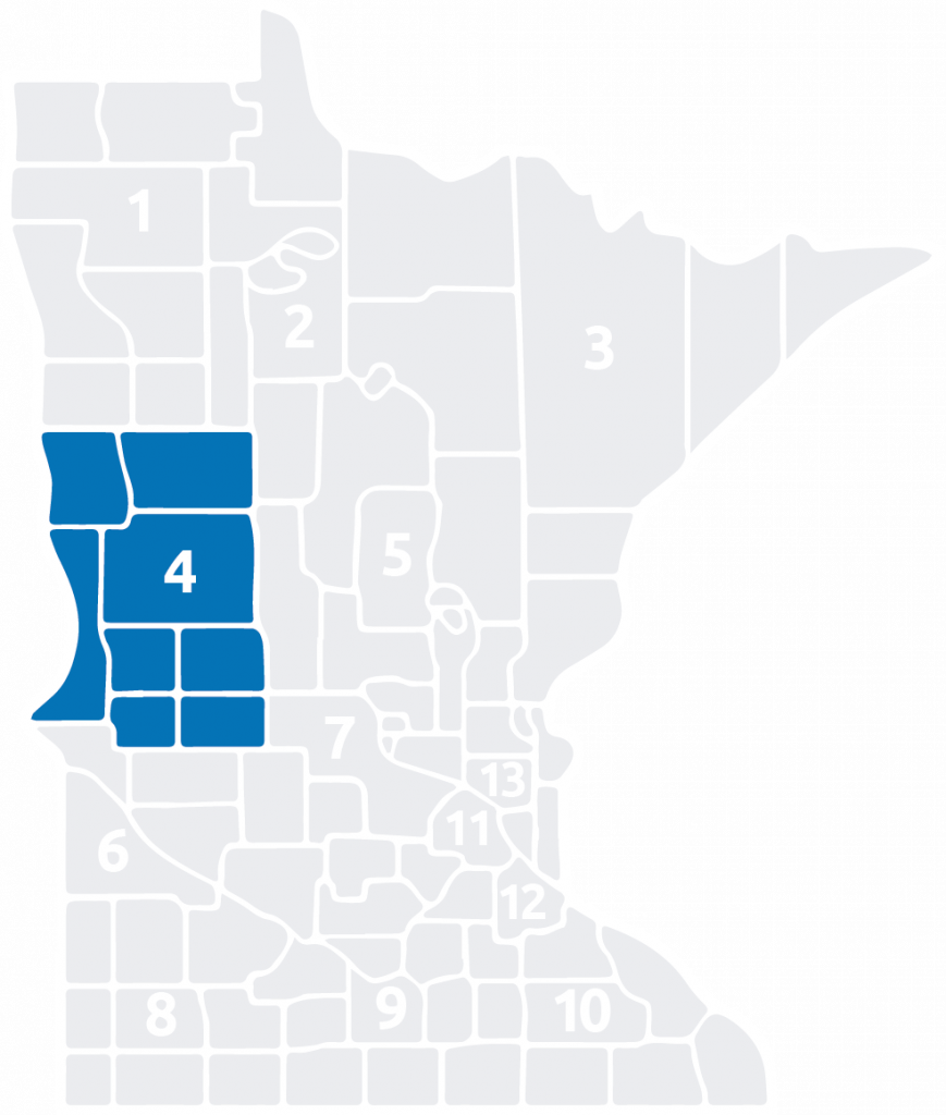 Special Olympics Minnesota Area 4 is located in the west central part of the state