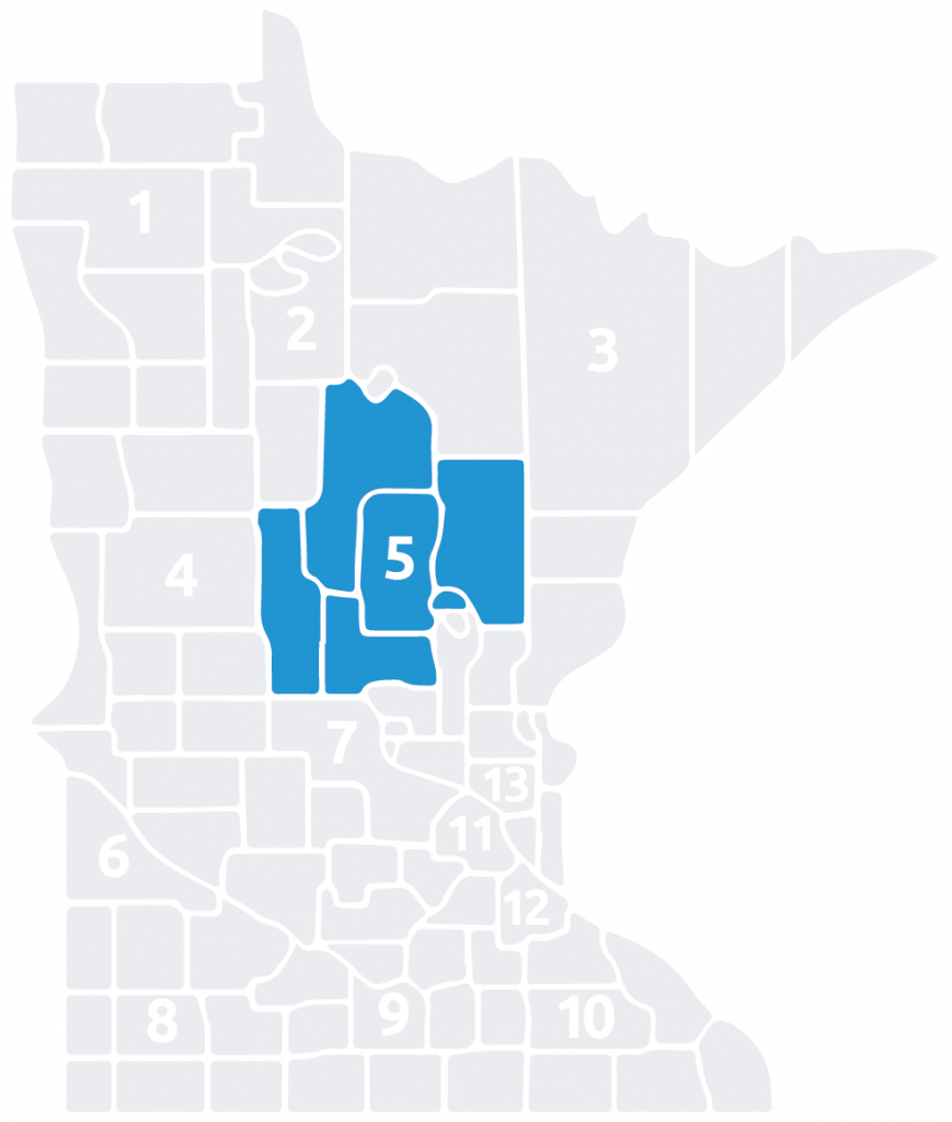 Special Olympics Minnesota Area 4 is located in the center of the state
