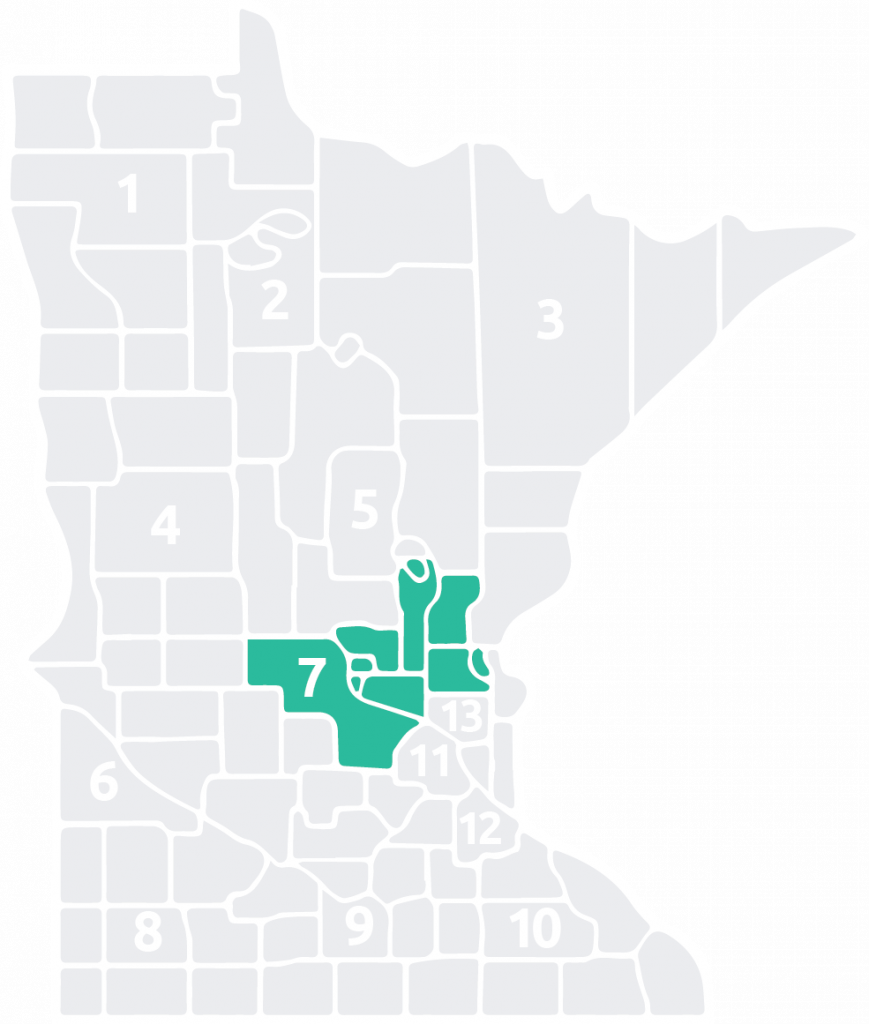 Special Olympics Minnesota Area 7 is located in the center of the state