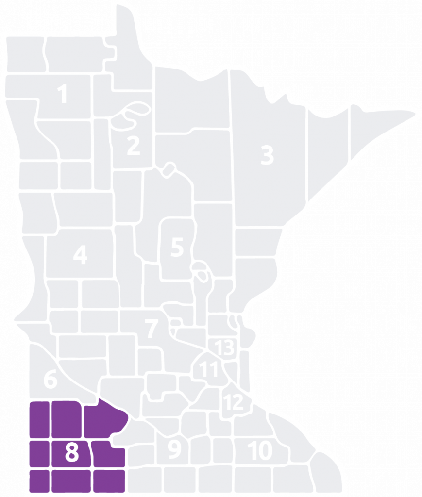 Special Olympics Minnesota Area 8 is located in the southwest corner of the state