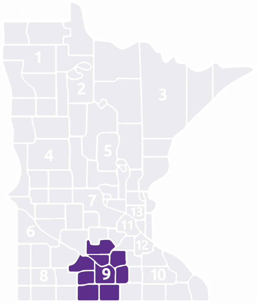 Special Olympics Minnesota Area 9 is located in the south central part of the state