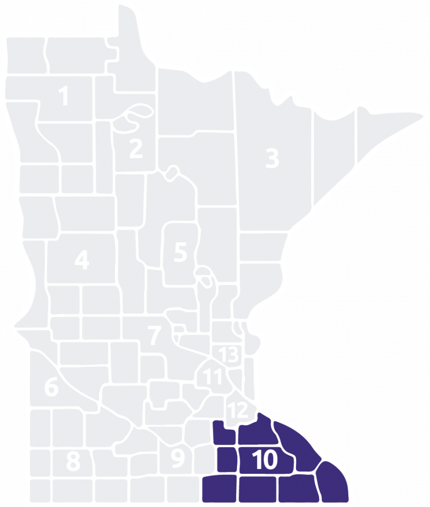 Special Olympics Minnesota Area 10 is located in the southeast corner of the state
