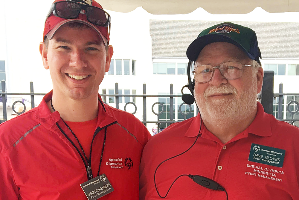 Jason Ehrenberg, 2019 Spirit Award recipient, is one of many volunteers who has changed countless lives through his service and dedication to Special Olympics Minnesota.